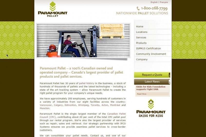 Paramount Pallet - Multi-Lingual web design