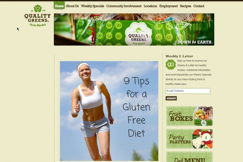 Quality Greens - Kelowna - Website design and mangement