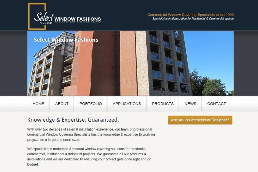 Select Window Fashions - Kelowna web design