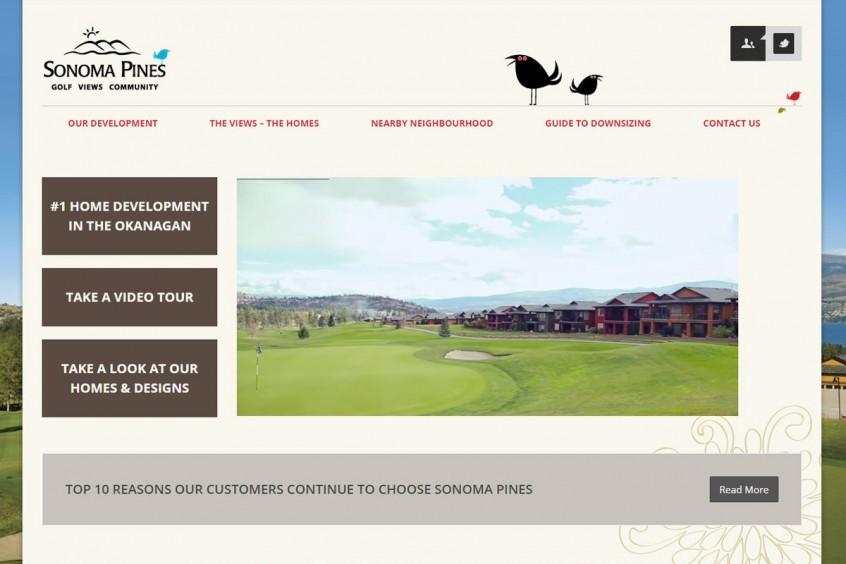 Sonoma Pines - West Kelowna Web Design