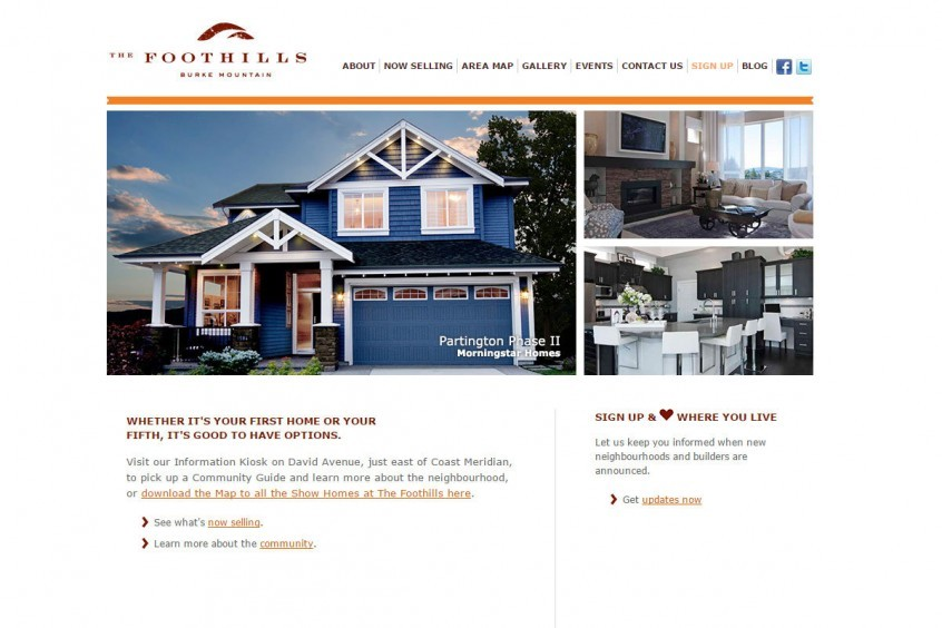 The Foothills at Burke Mountin - Web Design with Wordpress